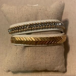 Stella & Dot Gilded path double wrap bracelet